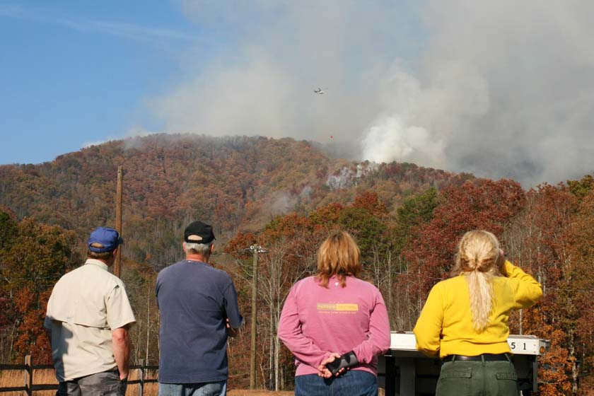 Very dry autumn brings numerous wildfires to the southeast
