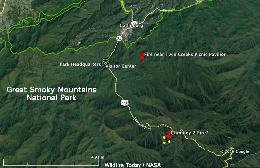 map chimney 2 fire 209 am et 11 27 2016   Wildfire Today