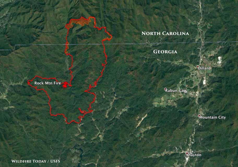 Map Rock Mountain Fire