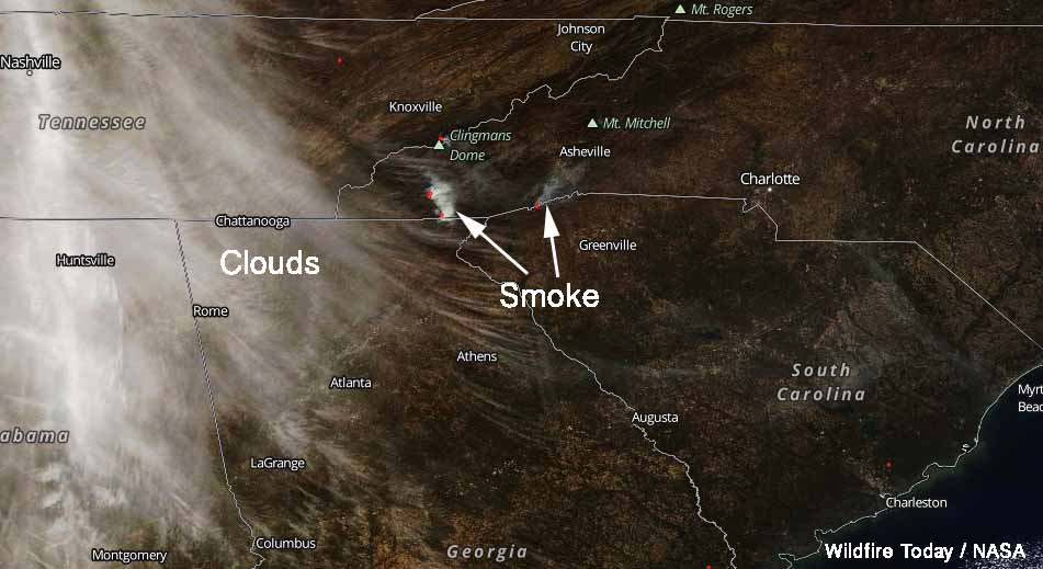 smoke Rock Mountain, Camp Branch, and Pinnacle Mountain Fires