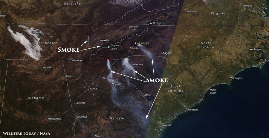 South Carolina Wildfire Today - Us active fire map