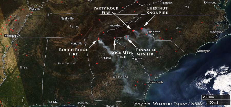 Smoke wildfires South