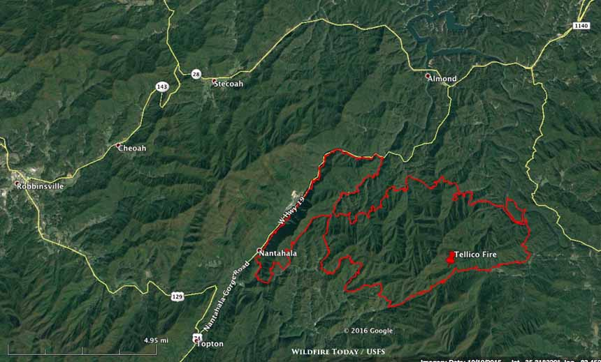 Information and maps of five wildfires in Georgia and North Carolina ...