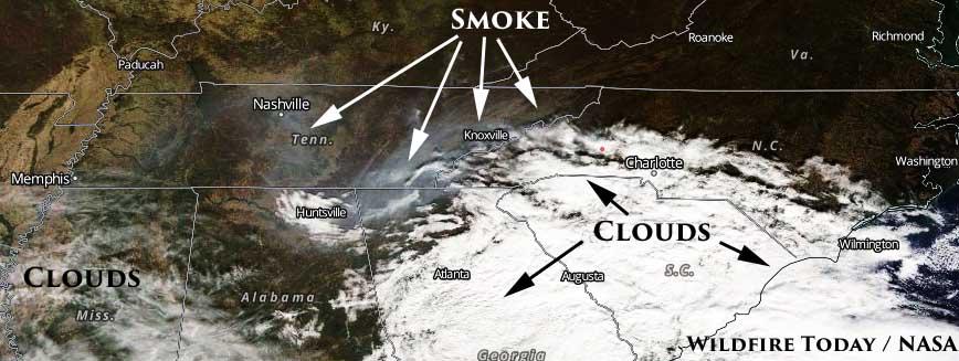 Update on wildfire smoke, November 13, 2016