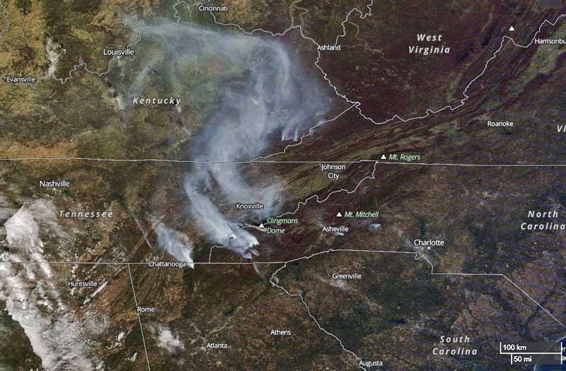North Carolina Wildfire Map.Author