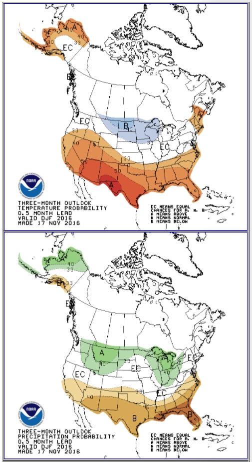 90 day temperature precipitation forecast