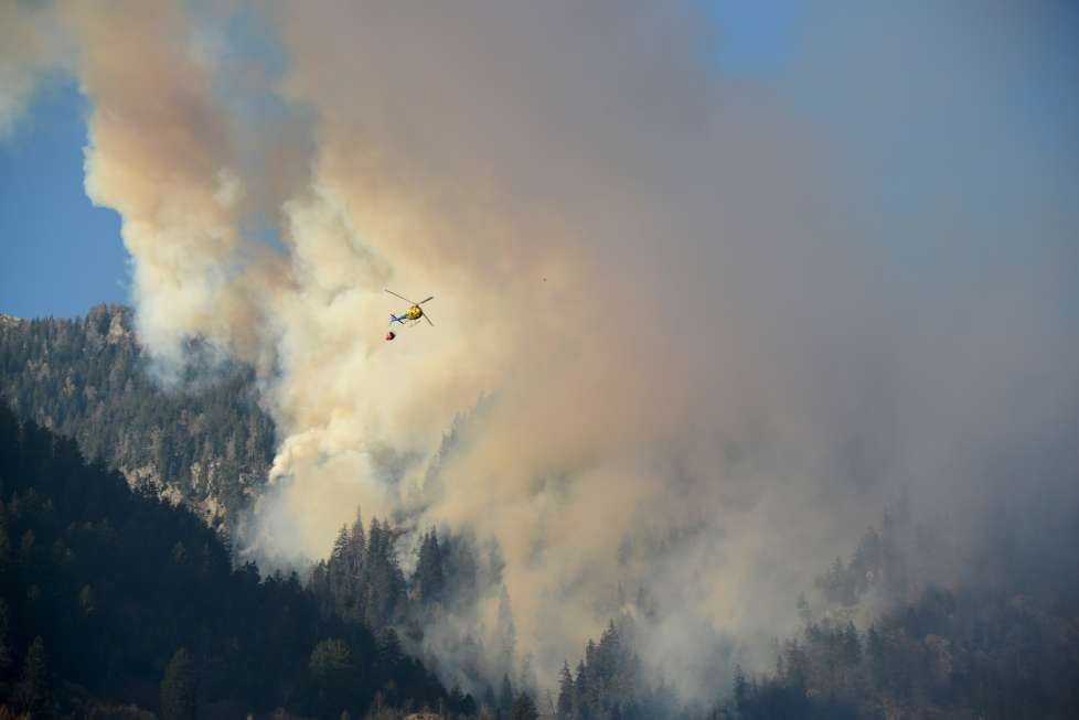 wildfire soazza switzerland