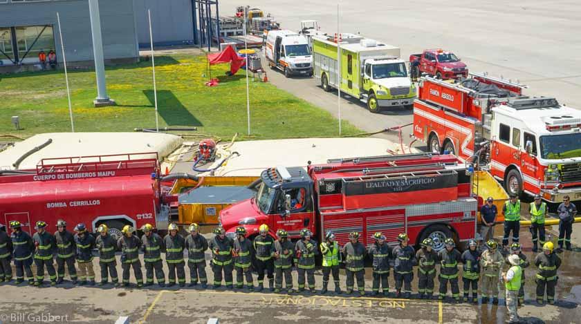 Firefighters Santiago Airport