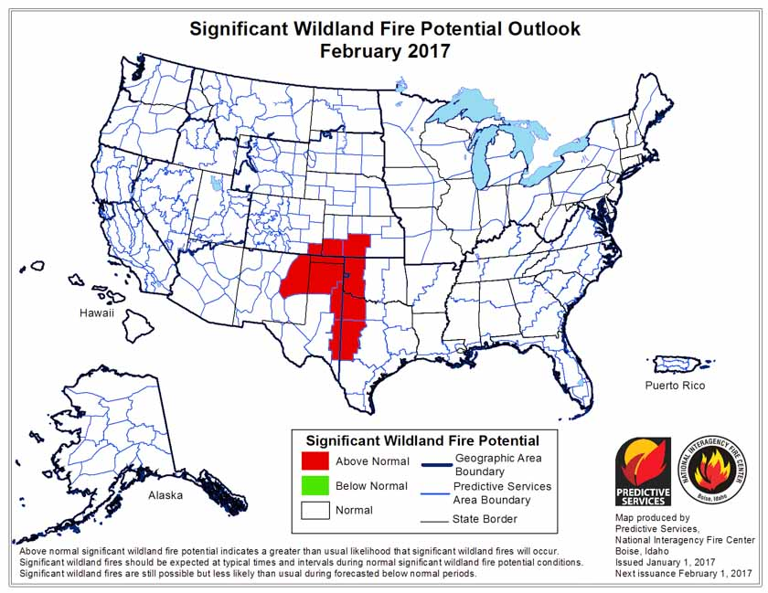 wildfire outlook 2017