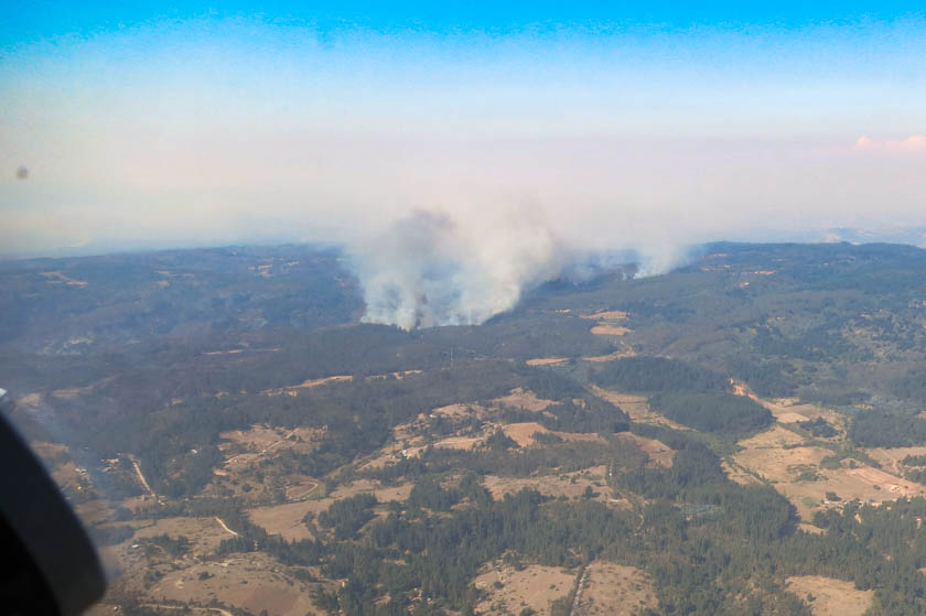 Aerial photos of wildfires in Chile
