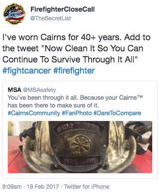 Firefighter Close Calls Tweet