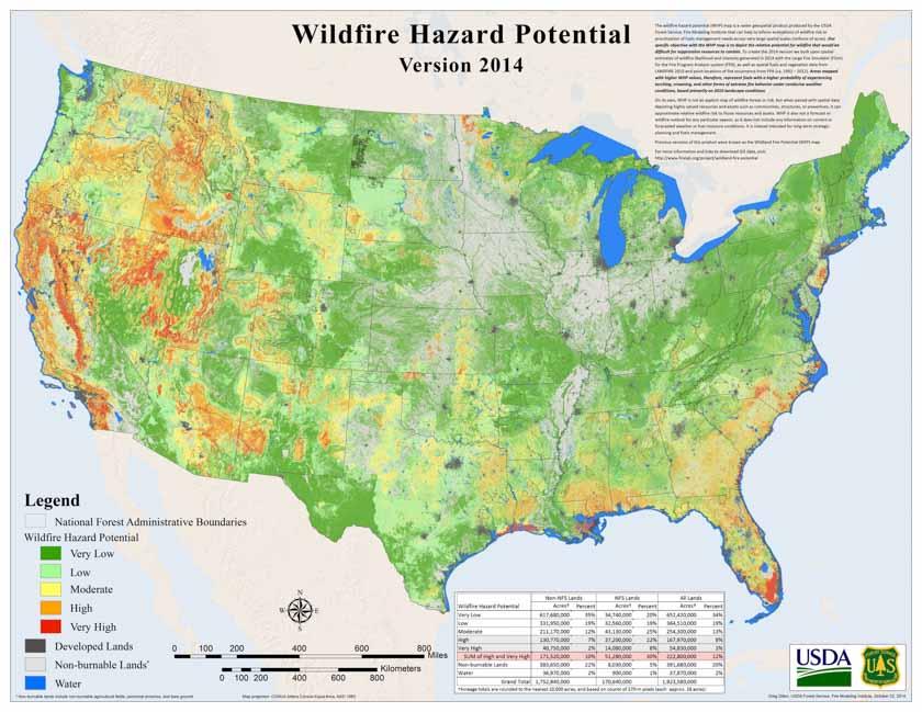 2014 Wildfire Hazard Potential