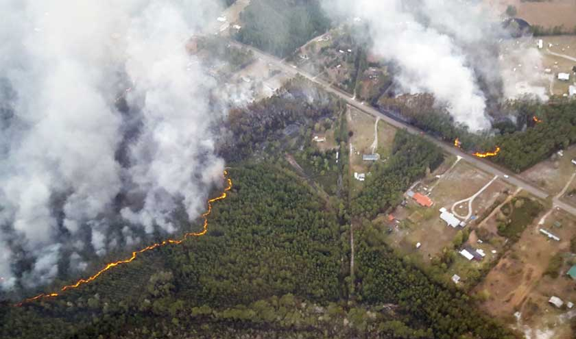 Florida Garfield Road Fire
