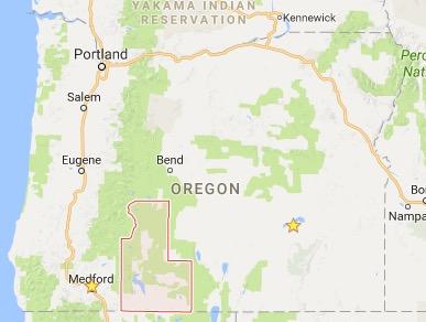 Klamath County, Oregon map