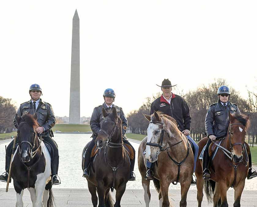 Secretary of the Interior Ryan Zinke horse
