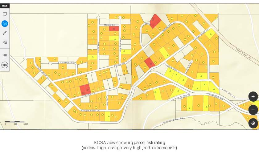 Klamath County, Oregon develops system for tracking firefighters and mapping structure information