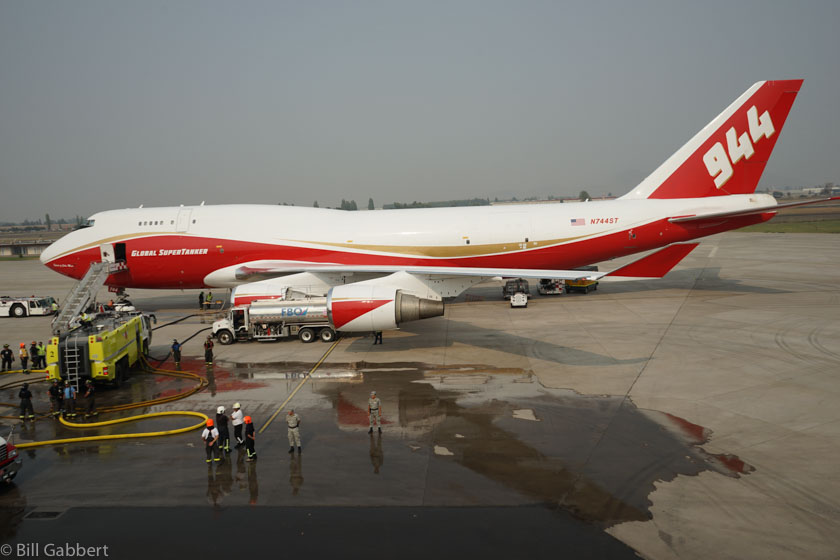 747 Supertanker in Santiago, Chile,