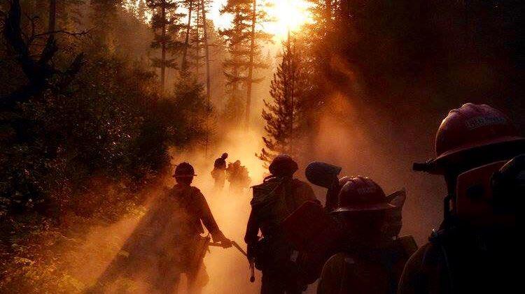 wildland firefighters smoke