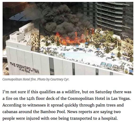 Cosmopolitan Hotel Fire egas, 2015