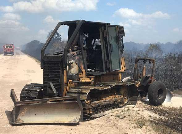 Dozer Burns In Florida Wildfire Operator Unhurt