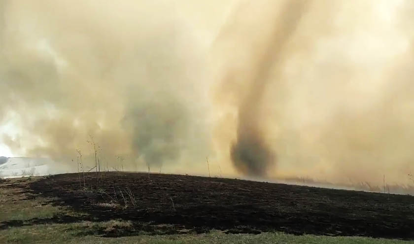 Firenado Wildfire Today - This slow motion fire tornado is the coolest thing youll see all day
