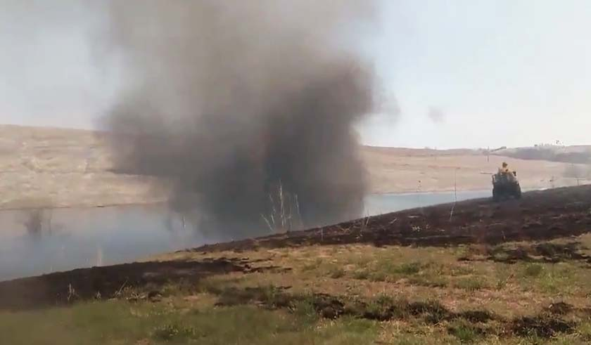 Video of impressive fire whirls in Nebraska