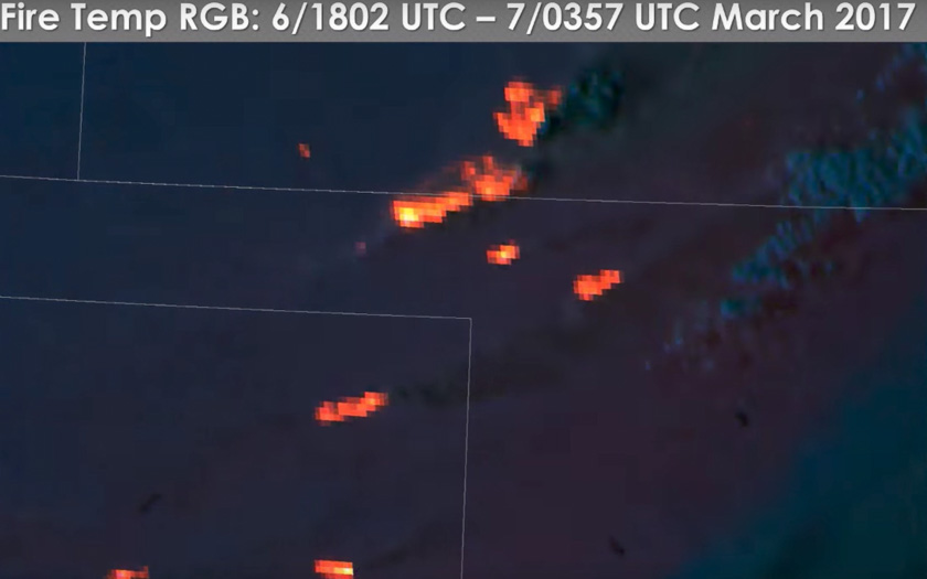 New satellite aided firefighters during fire siege in Kansas and Oklahoma