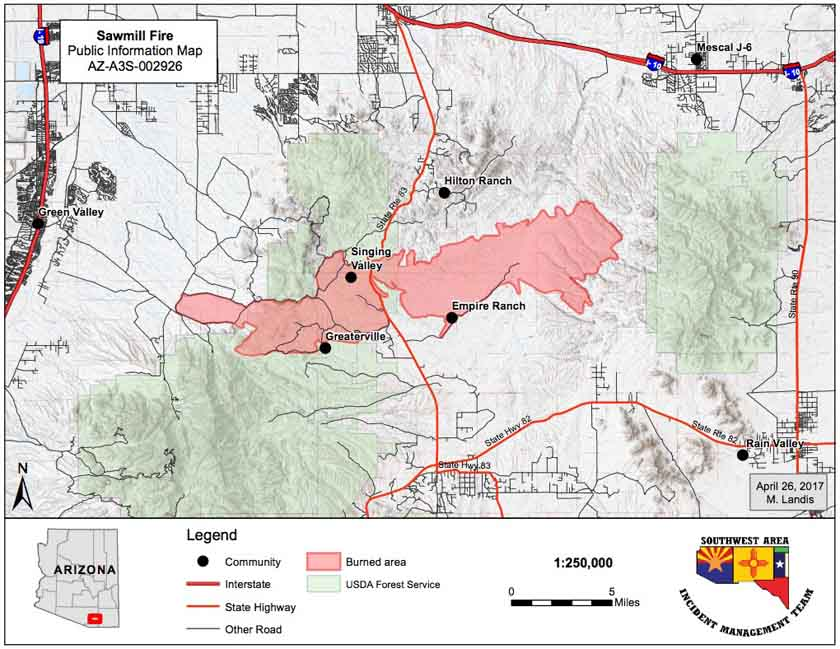 Map_Sawmill_Fire_4 27 2017   Wildfire Today