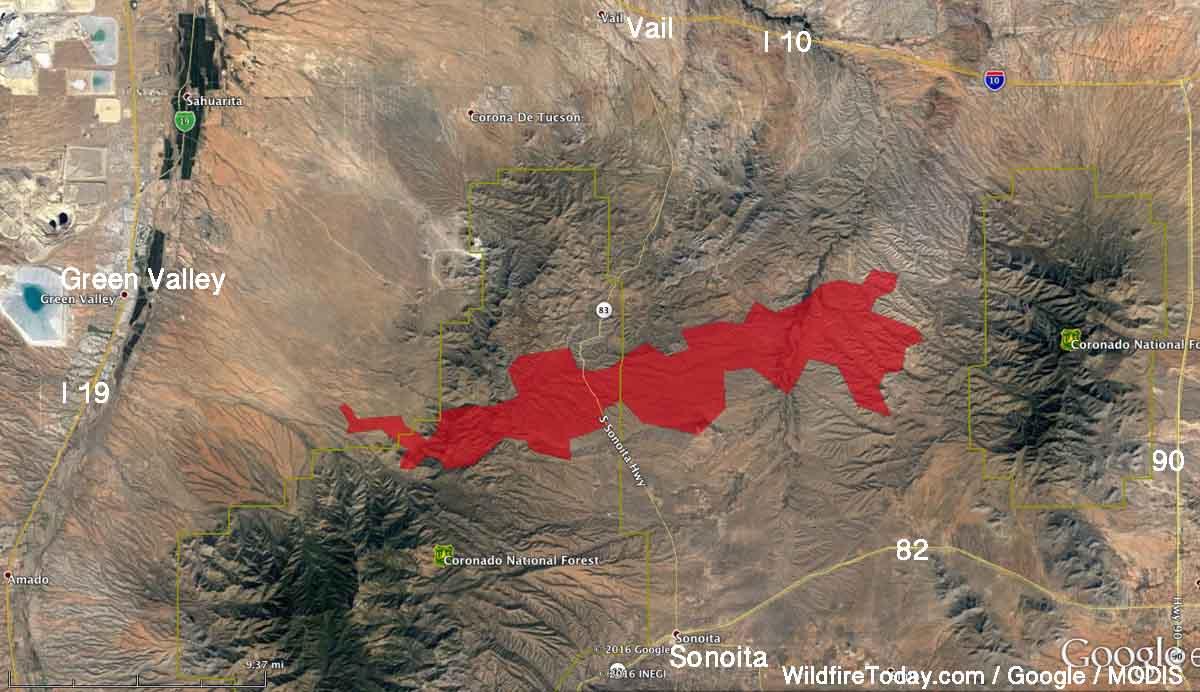 Sawmill fire map
