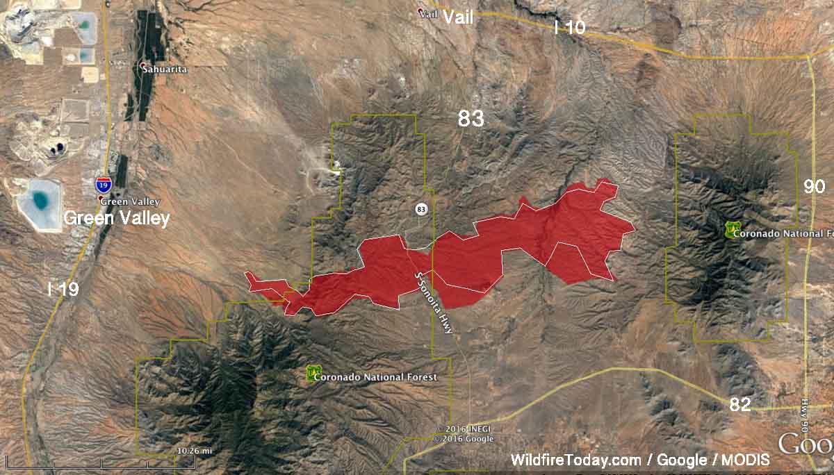 map Sawmill Fire Arizona