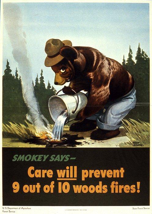 Smokey Bear's original poster