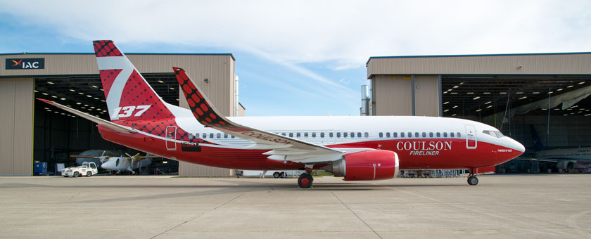 Coulson's new 737 rolls out of the paint shop