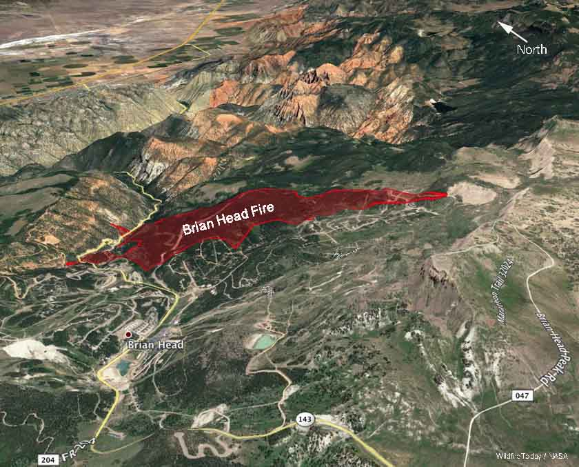 Brian Head Fire 3-d map