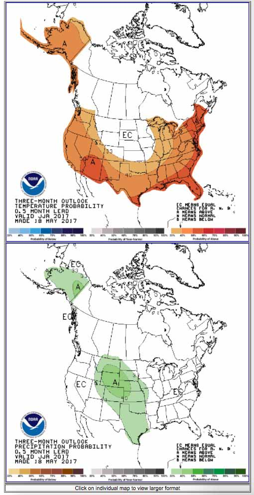 90 day temperature precipitation forecast map