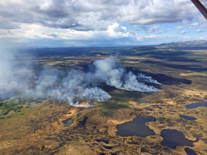 Numerous wildfires in Southwest Alaska