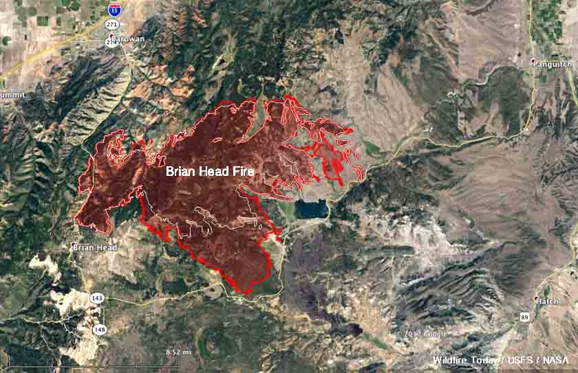 map Brian Head Fire