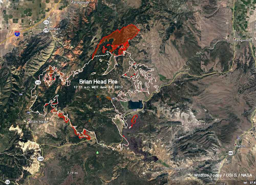 Utah wildfire torches almost  6 more square miles