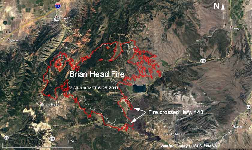 Brian Head Fire expands across Highway 143   Wildfire Today