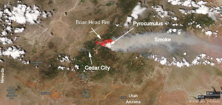 Brian Head Fire in Utah burns 13 homes