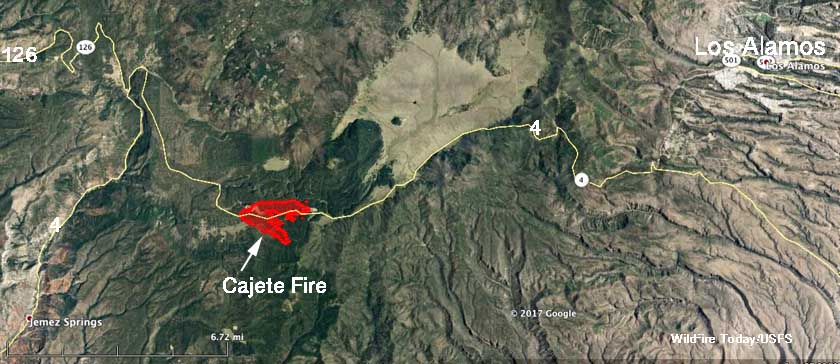 Cajete Fire west of Los Alamos causes evacuations