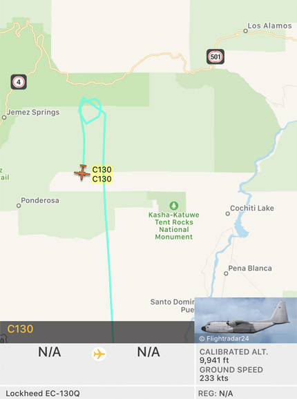 C-130Q air tanker Cajete Fire