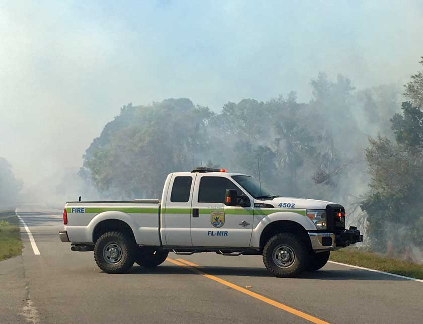 Merritt Island National Wildlife Refuge fire