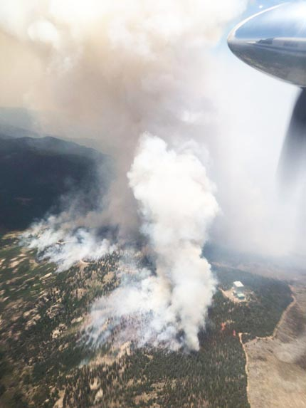 Frye Fire aerial photo