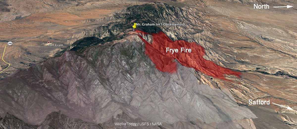 Frye Fire threatens international observartory
