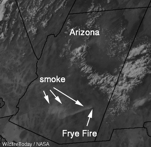 photo smoke from the Frye Fire