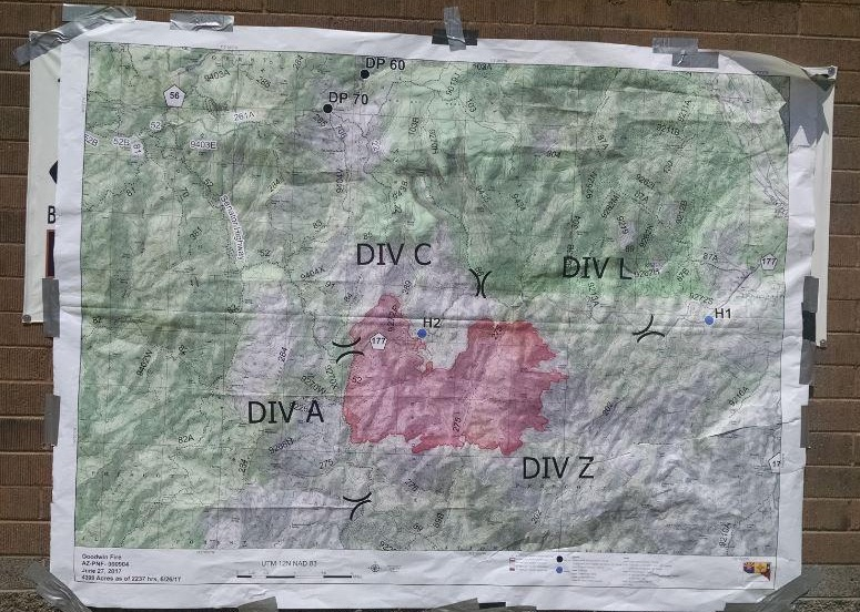 Map of the Goodwin Fire