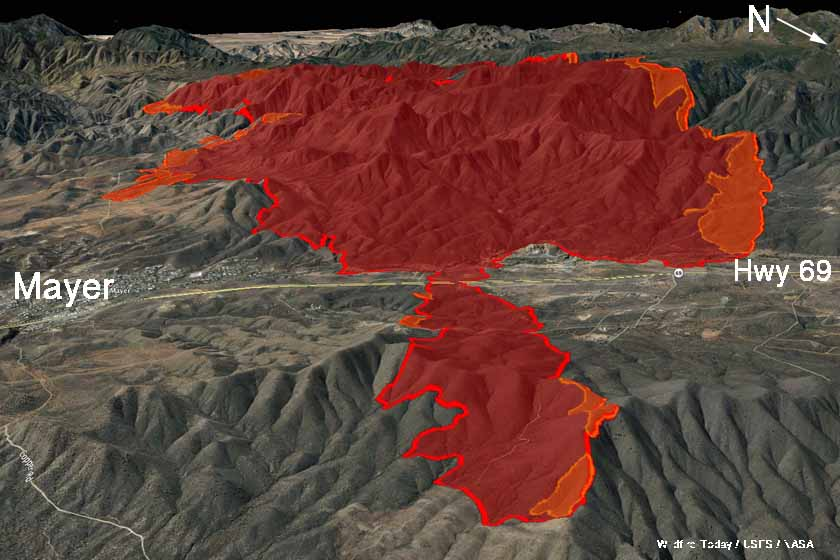 3-D map Goodwin Fire