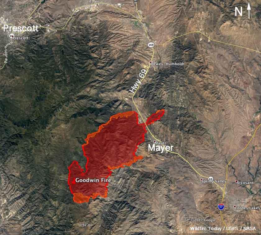 map Goodwin Fire