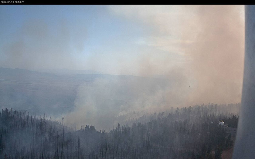Mt. Graham International Observatory fire