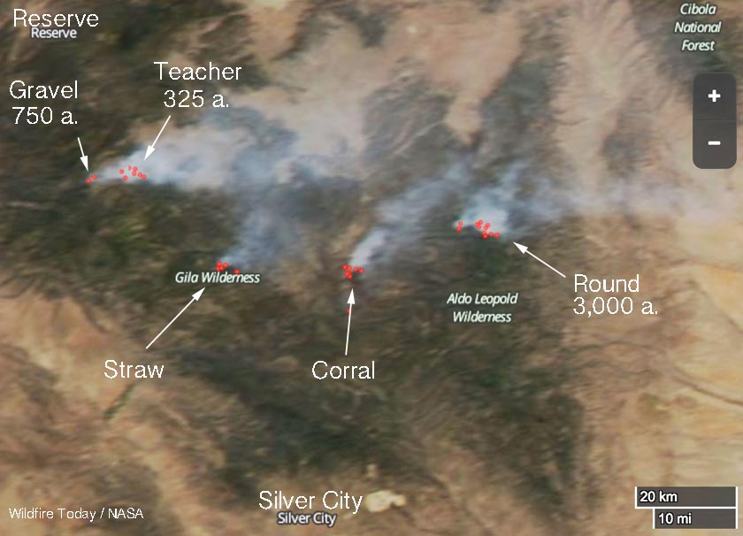 Five fires are burning in the Gila National Forest - Wildfire Today